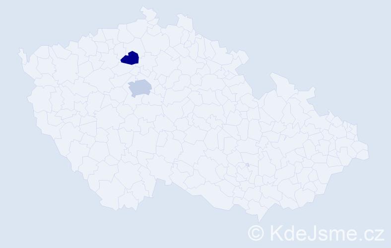 Příjmení: 'Griněnko', počet výskytů 3 v celé ČR