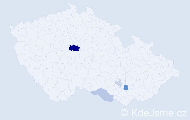 Příjmení: 'Čamrda', počet výskytů 10 v celé ČR