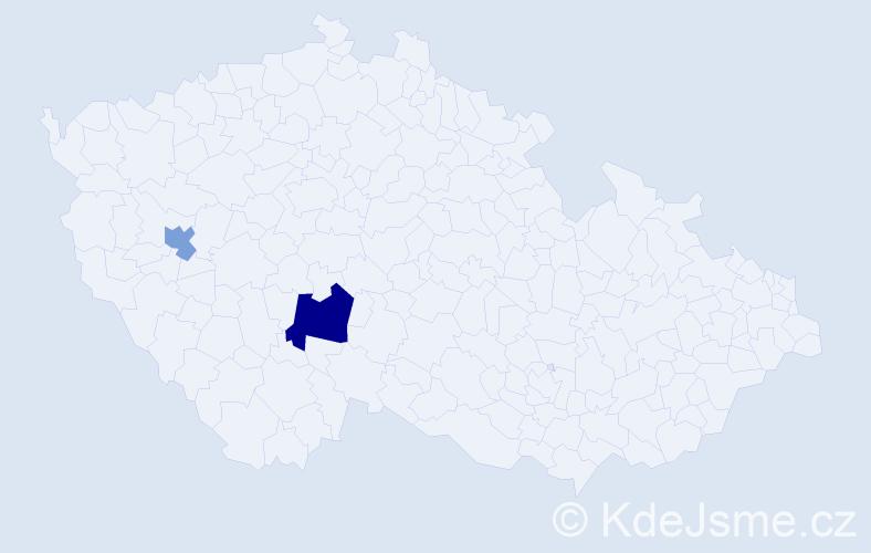 Příjmení: 'Krešáková', počet výskytů 3 v celé ČR