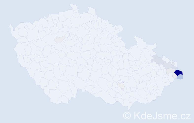 Příjmení: 'Babilon', počet výskytů 60 v celé ČR