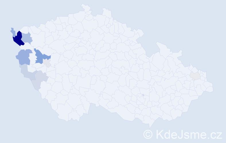 Příjmení: 'Červenická', počet výskytů 30 v celé ČR