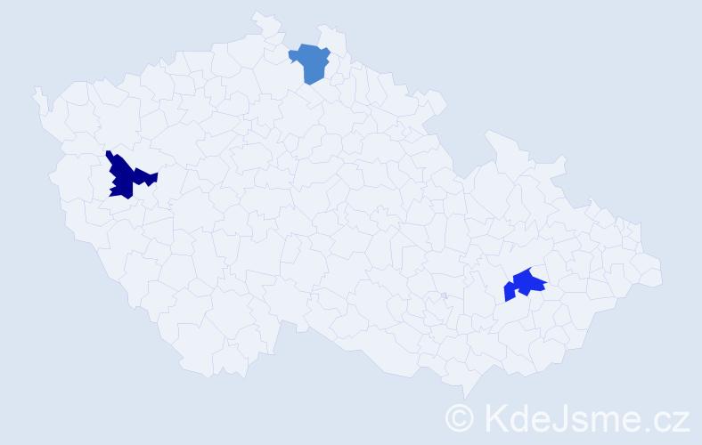 Příjmení: 'Arikan', počet výskytů 3 v celé ČR