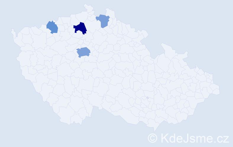 Příjmení: 'Baschová', počet výskytů 10 v celé ČR