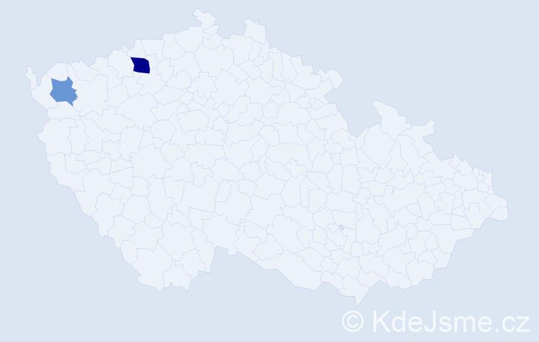 Příjmení: 'Banset', počet výskytů 11 v celé ČR