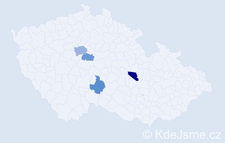 Příjmení: 'Cappellari', počet výskytů 9 v celé ČR