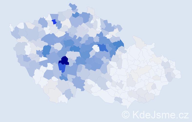 Příjmení: 'Čiháková', počet výskytů 1503 v celé ČR