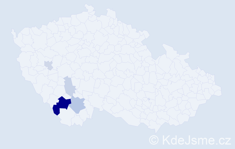 Příjmení: 'Grillingerová', počet výskytů 14 v celé ČR