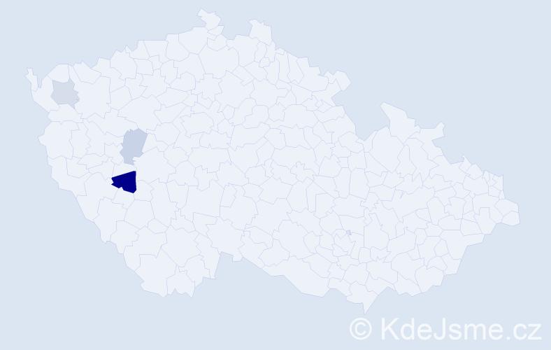 Příjmení: 'Jaguláková', počet výskytů 10 v celé ČR