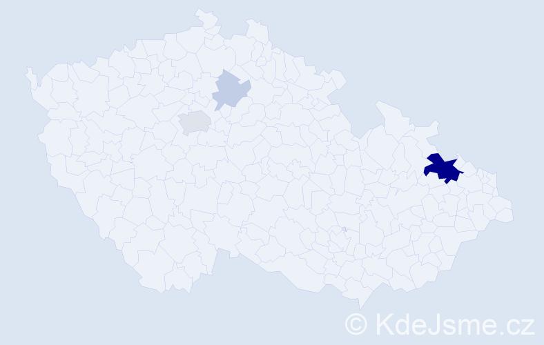 Příjmení: 'Gancarčíková', počet výskytů 14 v celé ČR