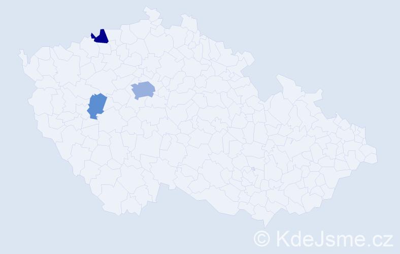 Příjmení: 'Ivasienko', počet výskytů 9 v celé ČR