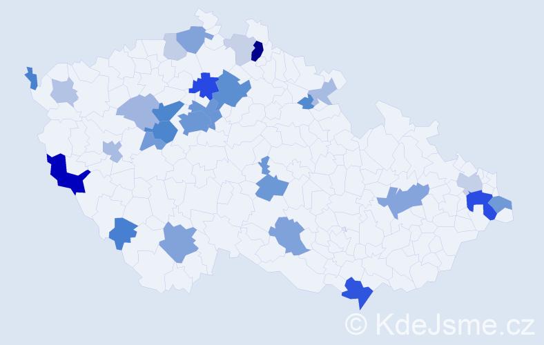 Příjmení: 'Baumanová', počet výskytů 91 v celé ČR
