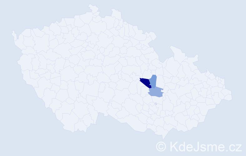Příjmení: 'Elsingerová', počet výskytů 8 v celé ČR