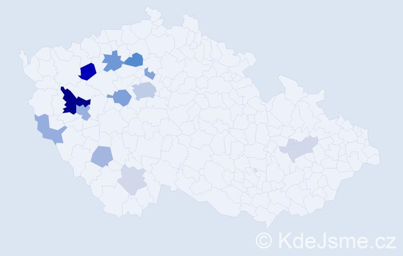 Příjmení: 'Eisenhamerová', počet výskytů 32 v celé ČR