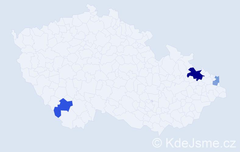 Příjmení: 'Filušová', počet výskytů 7 v celé ČR