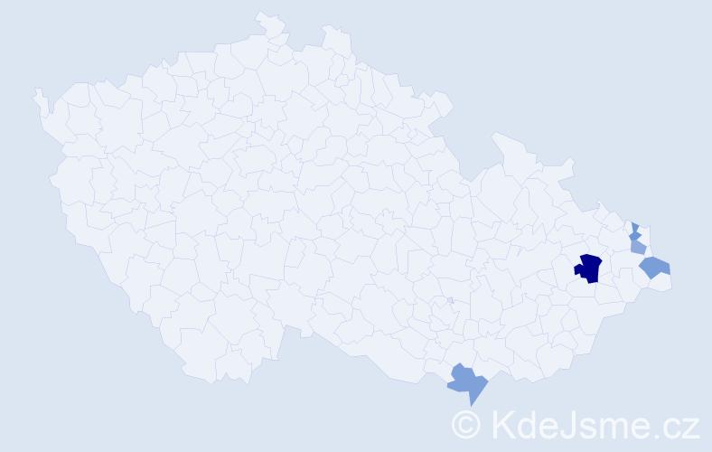 Příjmení: 'Ľuba', počet výskytů 7 v celé ČR