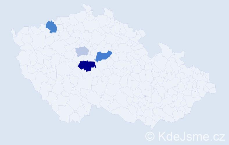 Příjmení: 'Fugnerová', počet výskytů 11 v celé ČR