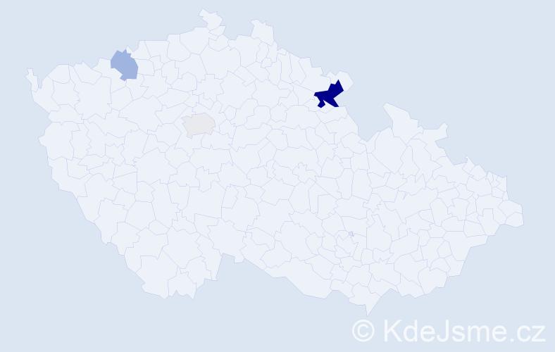 Příjmení: 'Čuhaničová', počet výskytů 7 v celé ČR