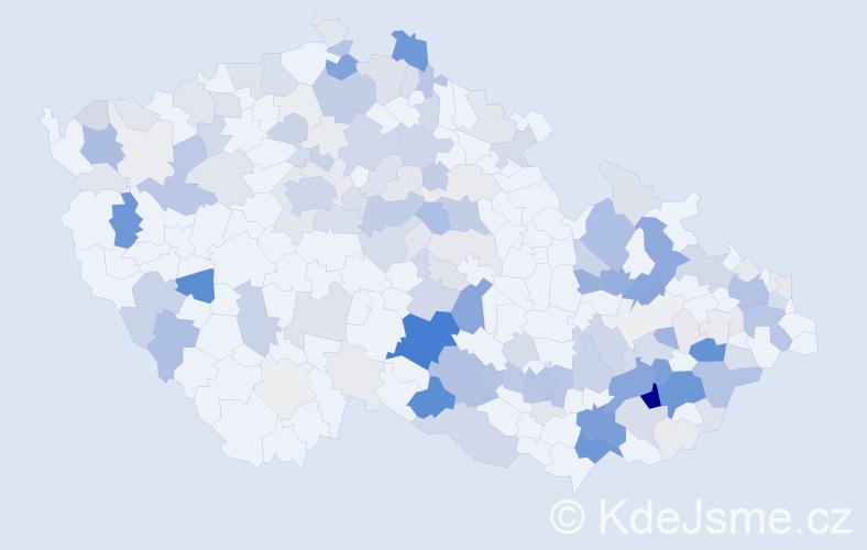 Příjmení: 'Kašíková', počet výskytů 698 v celé ČR