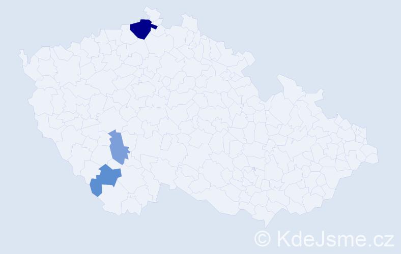 Příjmení: 'Adéeová', počet výskytů 7 v celé ČR
