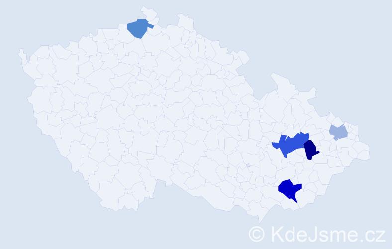 Příjmení: 'Čižek', počet výskytů 7 v celé ČR