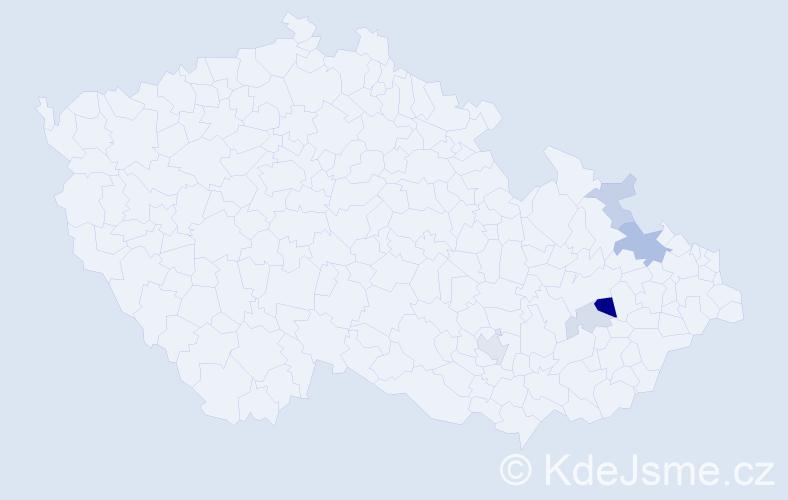 Příjmení: 'Klumpner', počet výskytů 11 v celé ČR