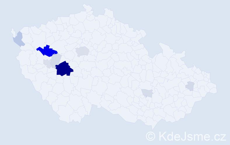 Příjmení: 'Brettl', počet výskytů 45 v celé ČR