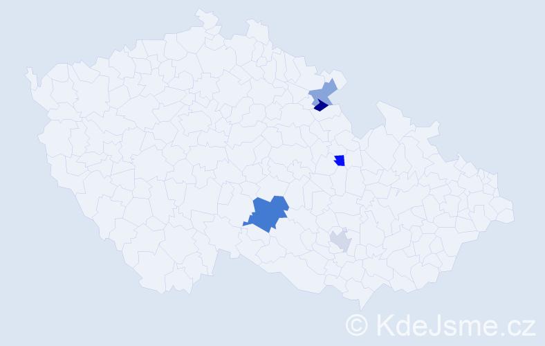 Příjmení: 'Karastojanov', počet výskytů 7 v celé ČR