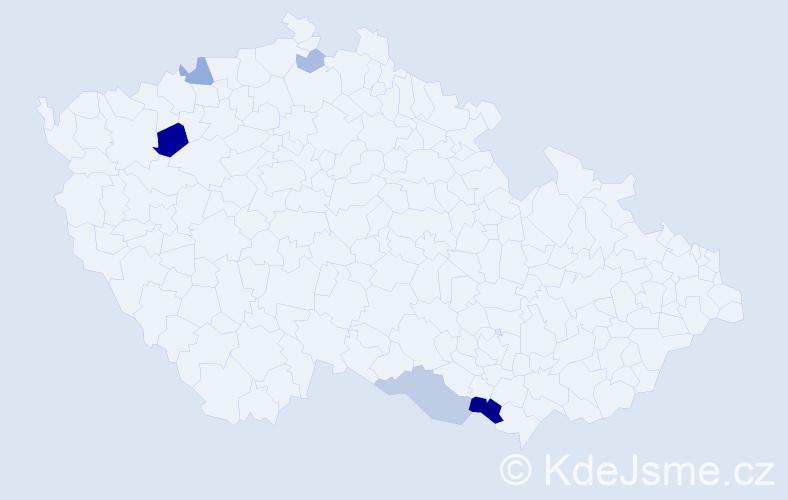 Příjmení: 'August', počet výskytů 14 v celé ČR