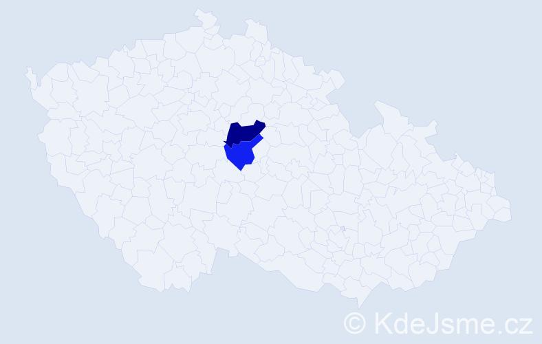 Příjmení: 'Lajk', počet výskytů 3 v celé ČR