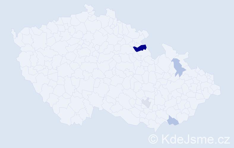 Příjmení: 'Karniš', počet výskytů 8 v celé ČR