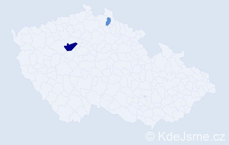 Příjmení: 'Harakaľová', počet výskytů 5 v celé ČR
