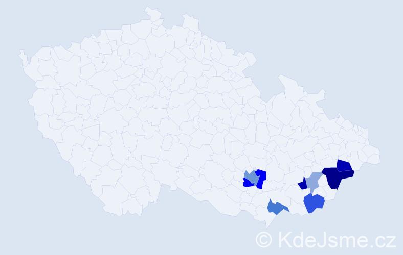 Příjmení: 'Essenderová', počet výskytů 22 v celé ČR