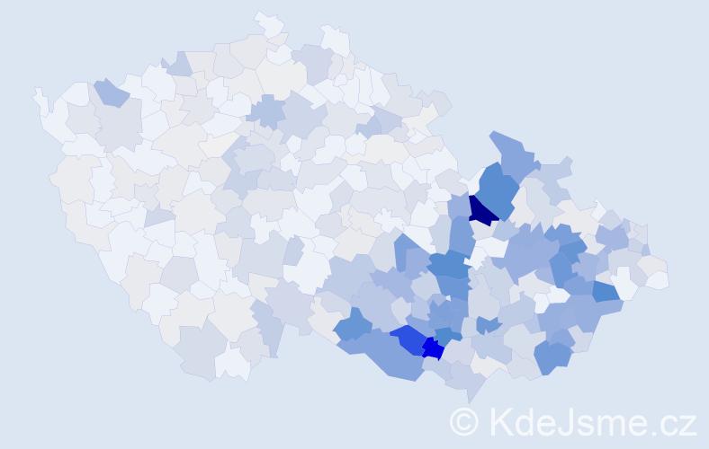 Příjmení: 'Janíčková', počet výskytů 1840 v celé ČR