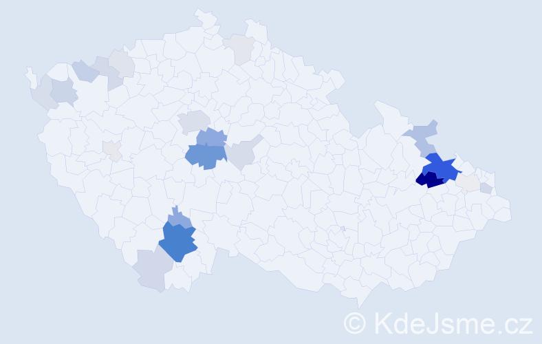 Příjmení: 'Čermínová', počet výskytů 81 v celé ČR
