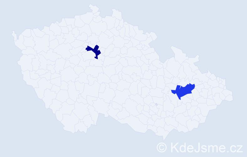 Příjmení: 'Děrešová', počet výskytů 6 v celé ČR