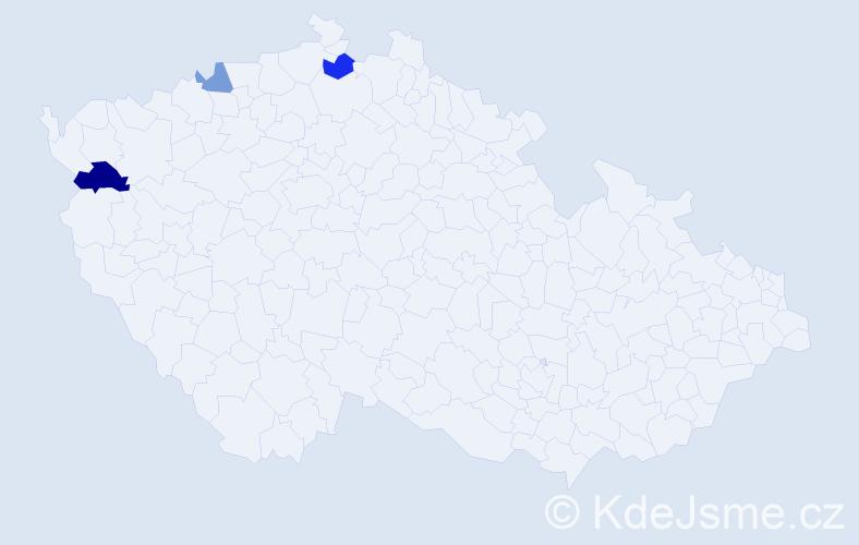 Příjmení: 'Cmorej', počet výskytů 9 v celé ČR