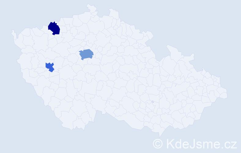 Příjmení: 'Haralík', počet výskytů 5 v celé ČR