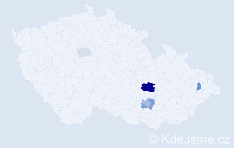 Příjmení: 'Braunšleger', počet výskytů 9 v celé ČR