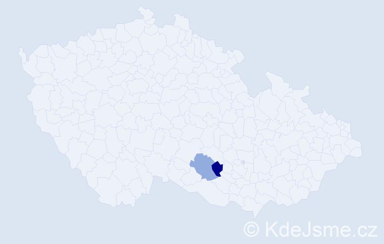 Příjmení: 'Ďebnár', počet výskytů 2 v celé ČR