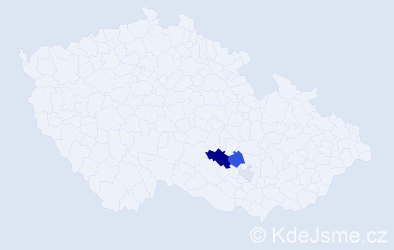 Příjmení: 'Kundýsek', počet výskytů 7 v celé ČR
