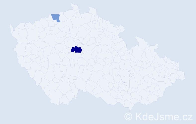 Příjmení: 'Gerloffová', počet výskytů 3 v celé ČR