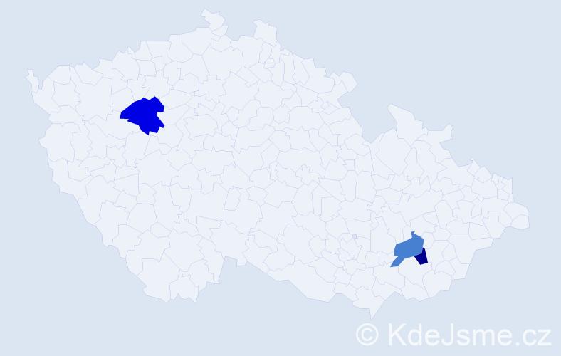 Příjmení: 'Kokotík', počet výskytů 10 v celé ČR