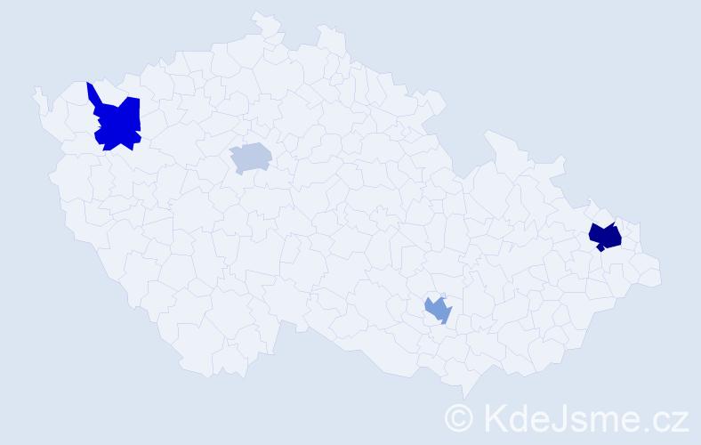 Příjmení: 'Englert', počet výskytů 6 v celé ČR