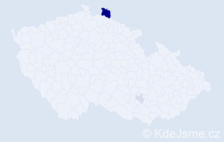 Příjmení: 'Lavi', počet výskytů 3 v celé ČR