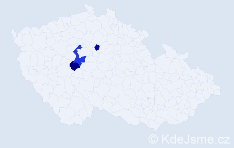 Příjmení: 'Hallmann', počet výskytů 5 v celé ČR