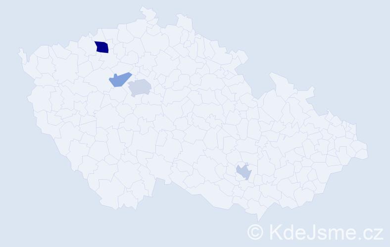 Příjmení: 'Dzjuba', počet výskytů 7 v celé ČR