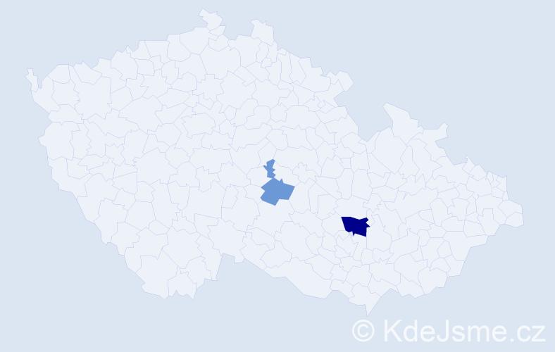 Příjmení: 'Croci', počet výskytů 4 v celé ČR