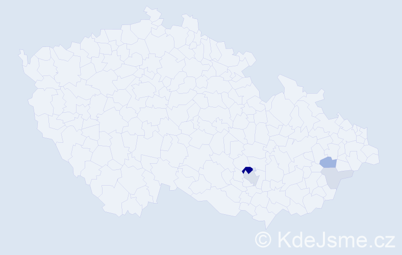 Příjmení: 'Gehringerová', počet výskytů 12 v celé ČR
