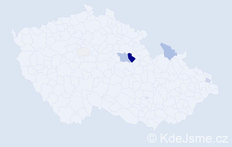 Příjmení: 'Laboš', počet výskytů 8 v celé ČR
