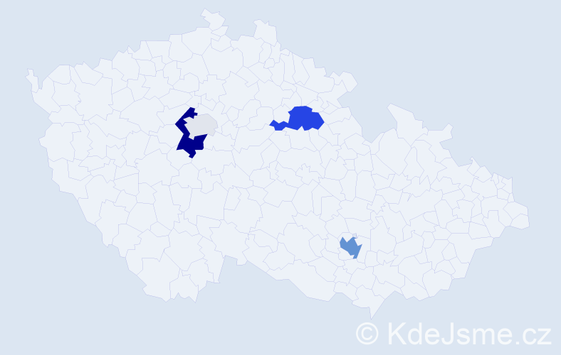 Příjmení: 'Gilányi', počet výskytů 12 v celé ČR